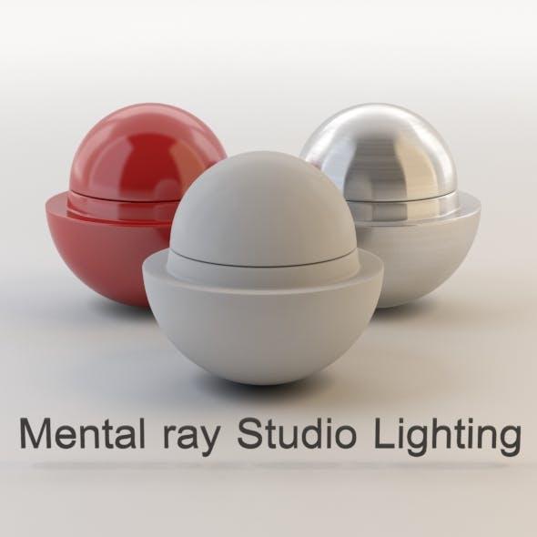 Mental ray studio Lighting setup