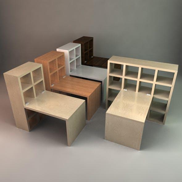 Stylish Desk with Bookcase