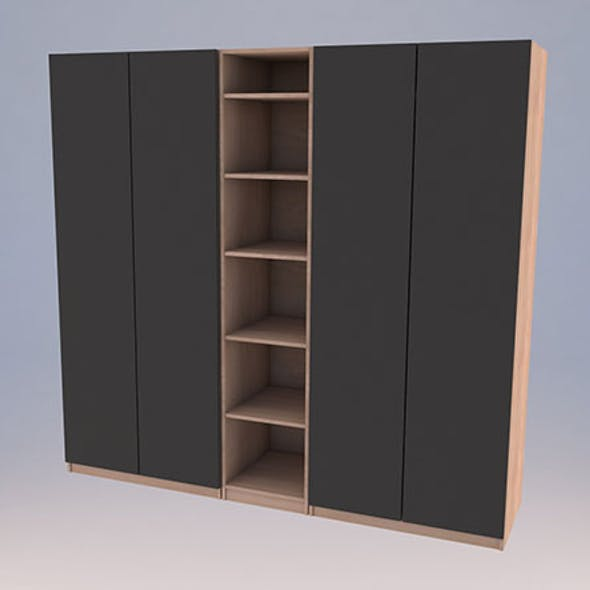 Ikea PAX Wardrobe Low-poly 3D model