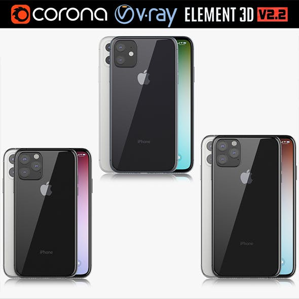 Apple iPhone 11 Pro & 11 Pro MAX & 11 black and white