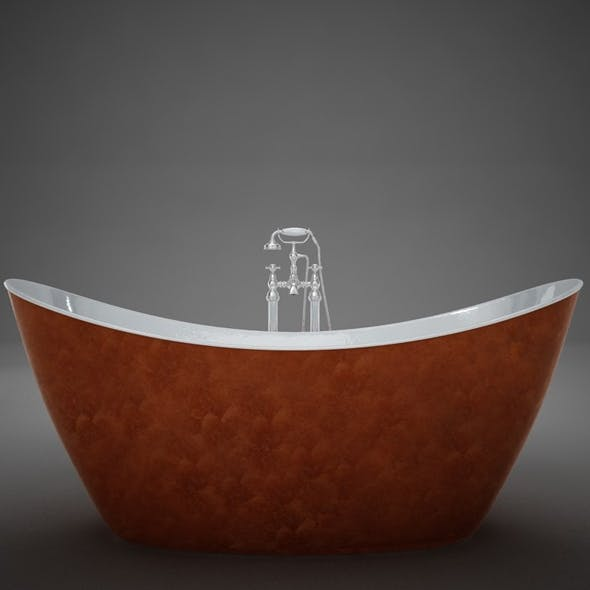 3D Heritage Hylton Copper Bath