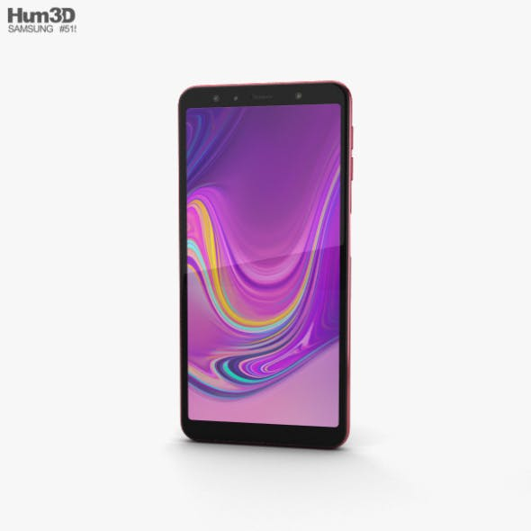 Samsung Galaxy A7 (2018) Pink - 3DOcean Item for Sale