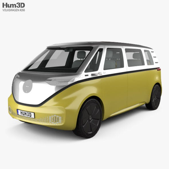 Volkswagen ID Buzz with HQ interior 2017 - 3DOcean Item for Sale