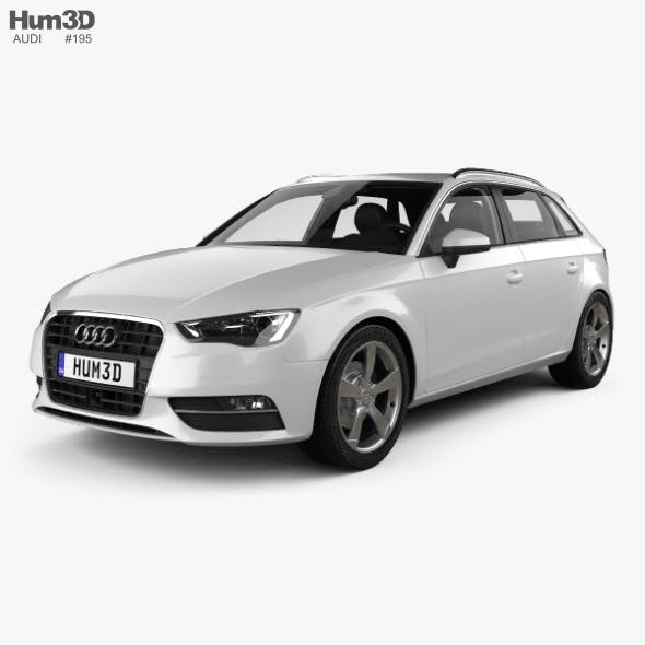Audi A3 Sportback with HQ interior 2013