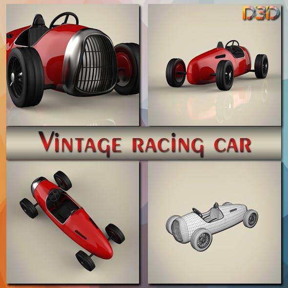 Vintage racing car