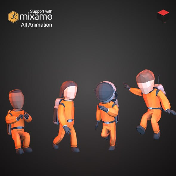 Astronaut Characters by polypropstudio | 3DOcean