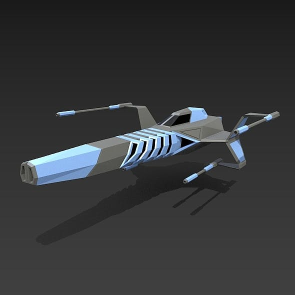 Lowpoly warthog spaceship concept