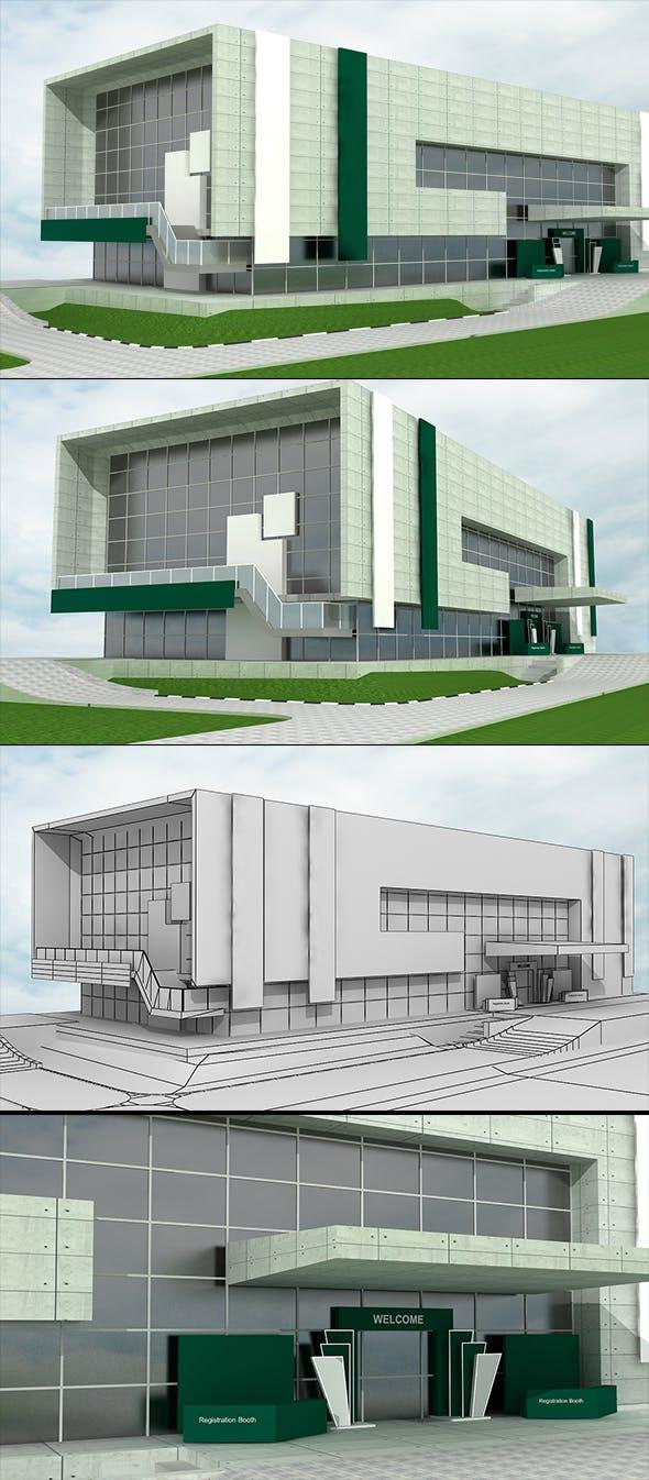 Exhibition Building Model - 3DOcean Item for Sale