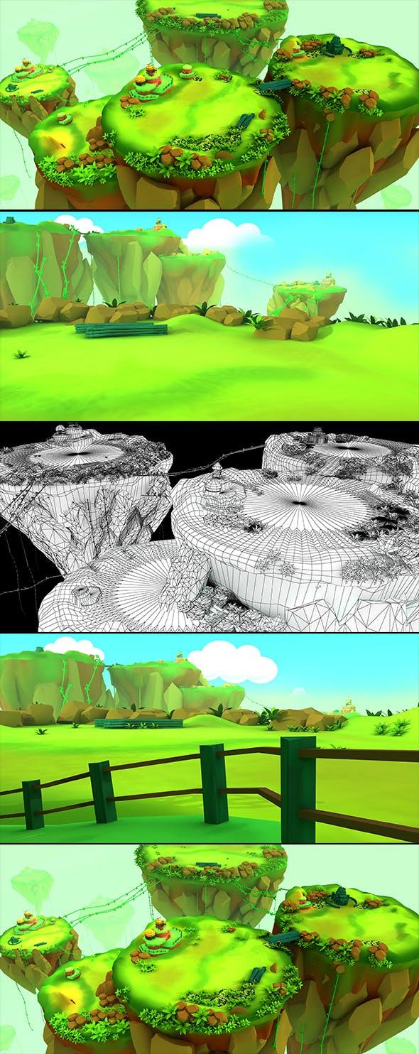Cartoon Environment 3d Concept - 3DOcean Item for Sale