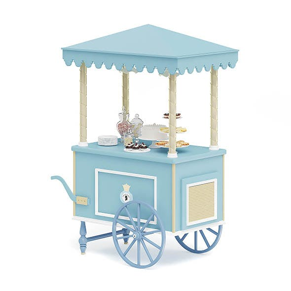 Sweets Stall 3D Model - 3DOcean Item for Sale
