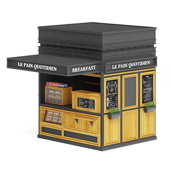 Breakfast Kiosk 3D Model - 3DOcean Item for Sale