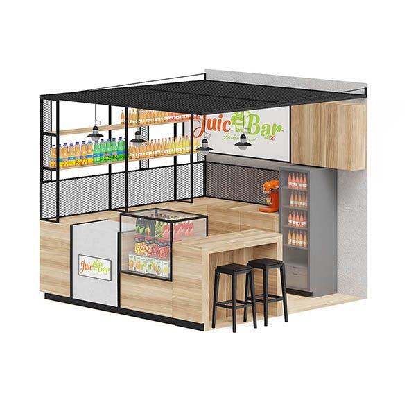 Juicery Kiosk 3D Model - 3DOcean Item for Sale