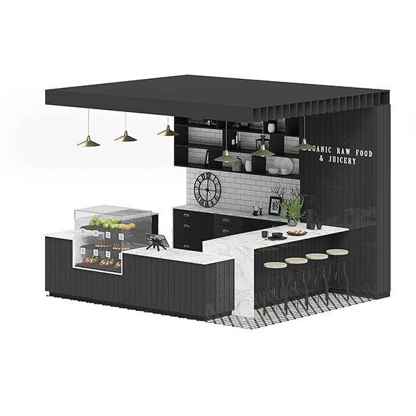 Black Kiosk 3D Model - 3DOcean Item for Sale