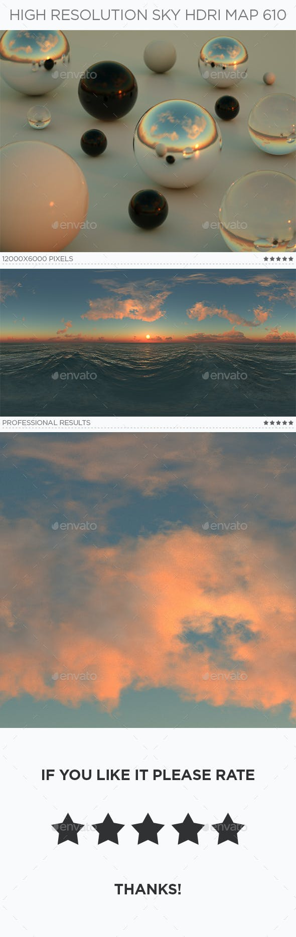 High Resolution Sky HDRi Map 610 - 3DOcean Item for Sale