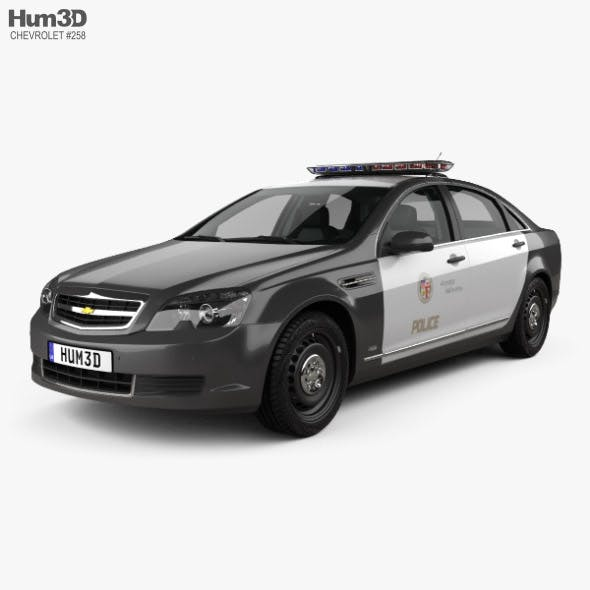Chevrolet Caprice Police with HQ interior 2016 - 3DOcean Item for Sale