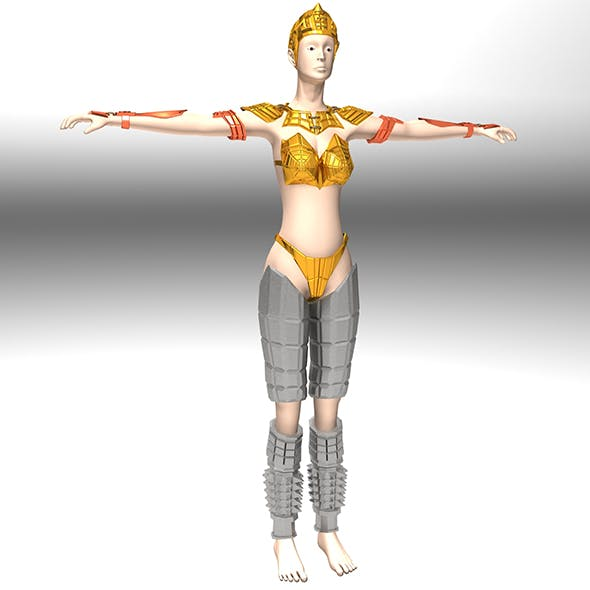 Ancient Roman Greek Female Warrior