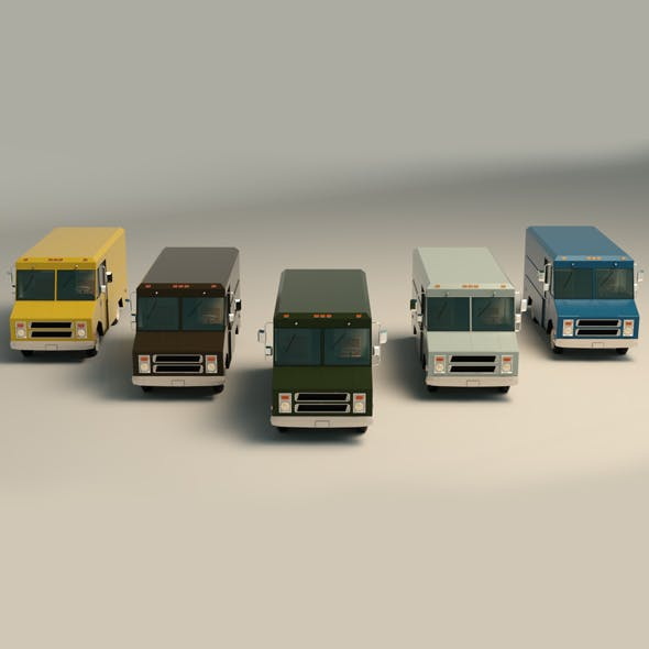 Low Poly Transporter Van 03