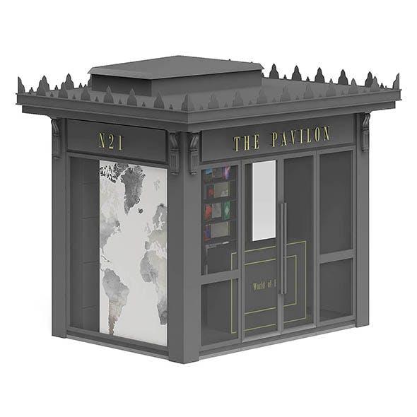 Book Kiosk 3D Model - 3DOcean Item for Sale