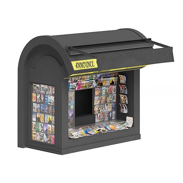 Newspaper Kiosk 3D Model - 3DOcean Item for Sale
