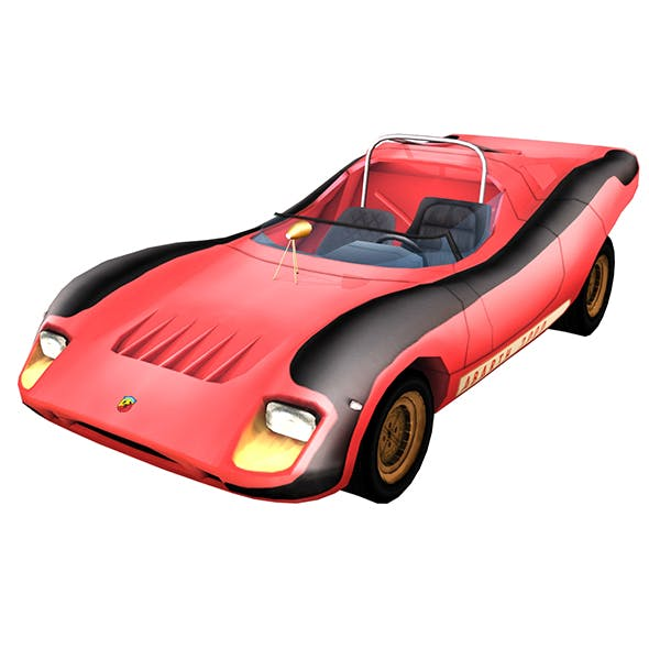 Abarth 2000 Sport Spider Low Poly