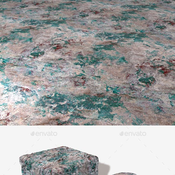 Rough Green Patchy Rock Seamless Texture
