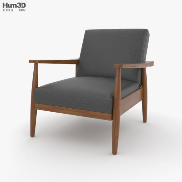Better Homes and Gardens Flynn Mid-Century Chair Wood