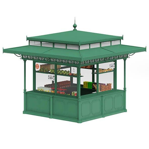Standard Kiosk 3D Model - 3DOcean Item for Sale