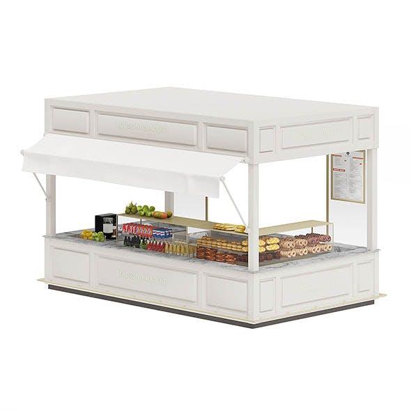 Food Stall 3D Model