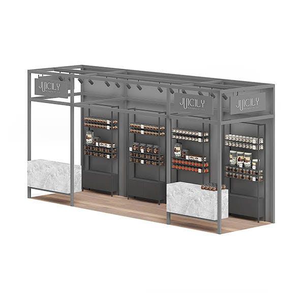 Steel Kiosk 3D Model - 3DOcean Item for Sale
