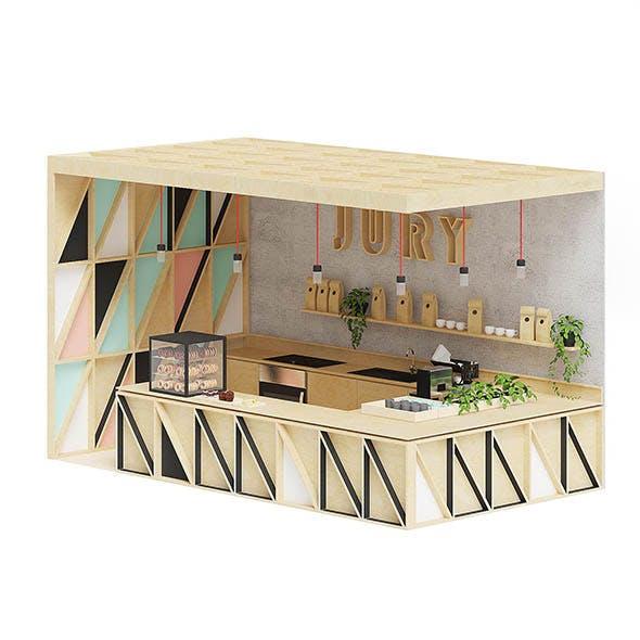 Wooden Kiosk 3D Model - 3DOcean Item for Sale