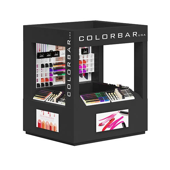 Cosmetics Stall 3D Model - 3DOcean Item for Sale