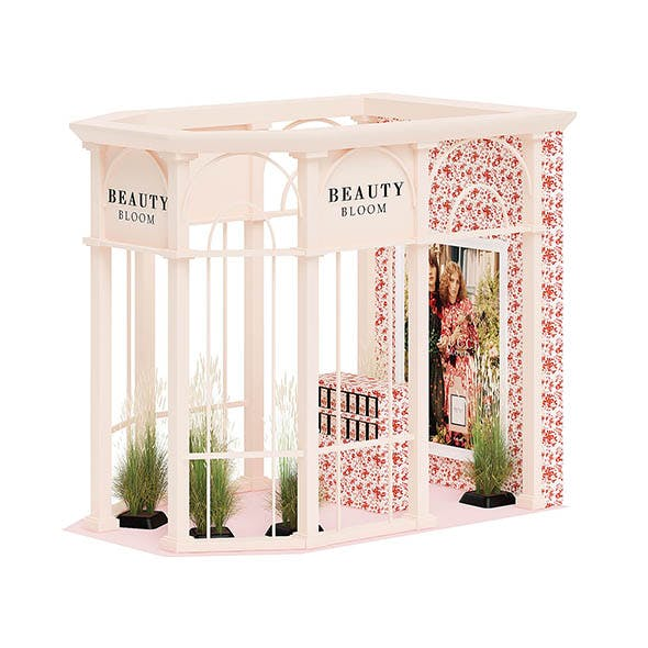 Beauty Stall 3D Model - 3DOcean Item for Sale