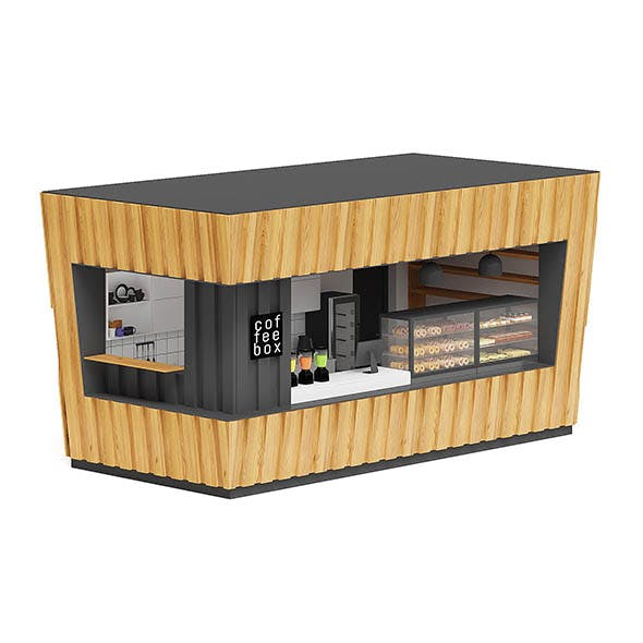 Coffee Kiosk 3D Model - 3DOcean Item for Sale