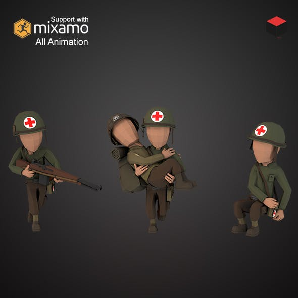 WW2 US Medic - 3DOcean Item for Sale
