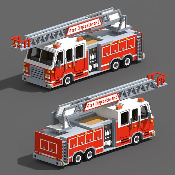Voxel Fire Truck