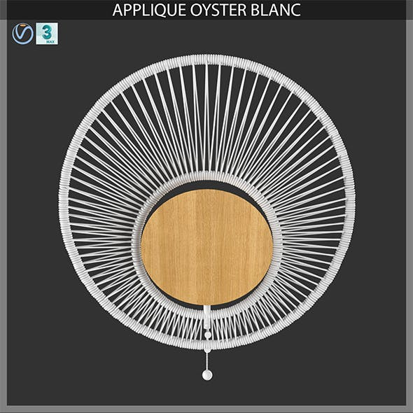 APPLIQUE OYSTER BLANC - 3DOcean Item for Sale