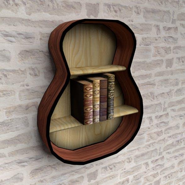 Loft style bookshelf - 3DOcean Item for Sale