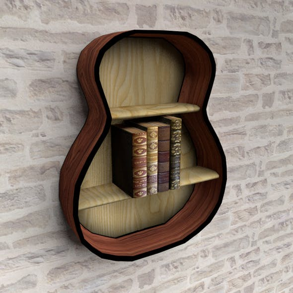 Loft style bookshelf