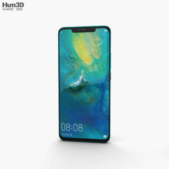 Huawei Mate 20 Pro Emerald Green - 3DOcean Item for Sale