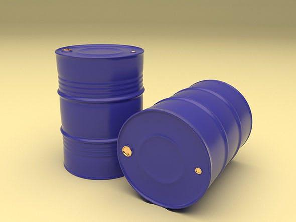 Metal Barrel 2in1 - 3DOcean Item for Sale