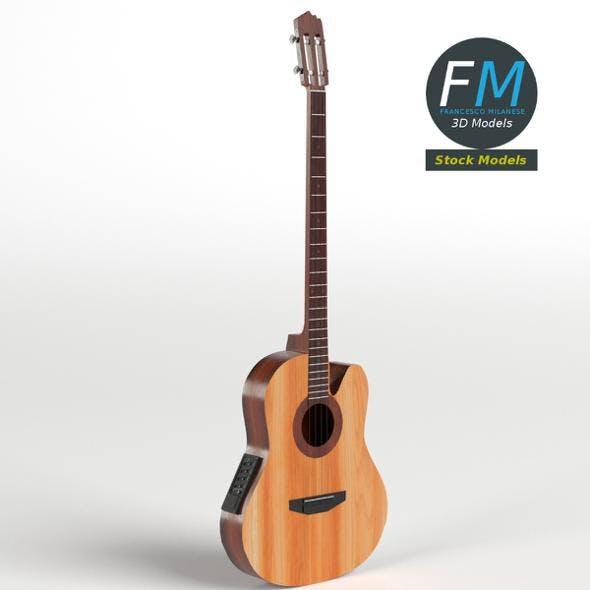 Acoustic Bass Guitar - 3DOcean Item for Sale