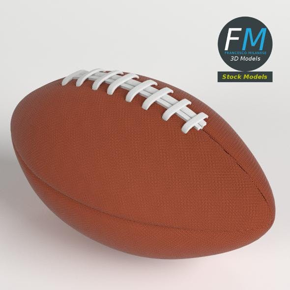 American football ball - 3DOcean Item for Sale