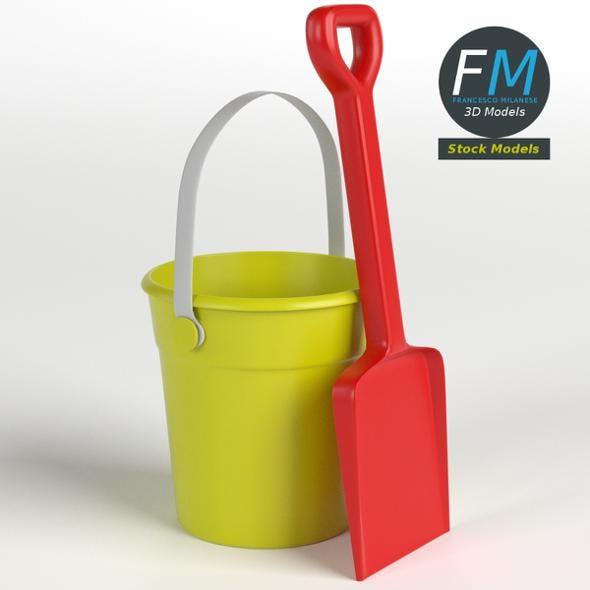 Beach bucket and shovel set - 3DOcean Item for Sale