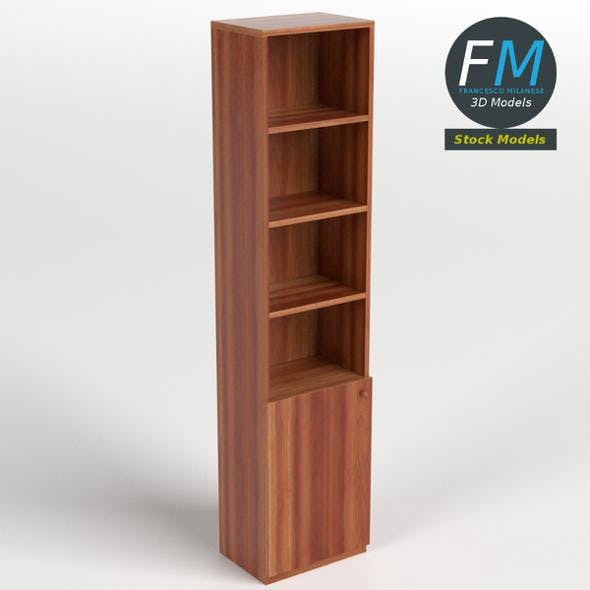 Bookshelf with a bottom drawer - 3DOcean Item for Sale