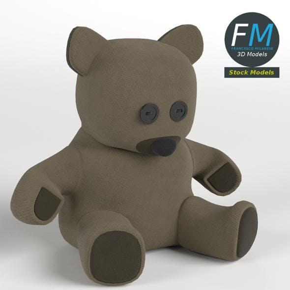 Burlap teddy bear - 3DOcean Item for Sale