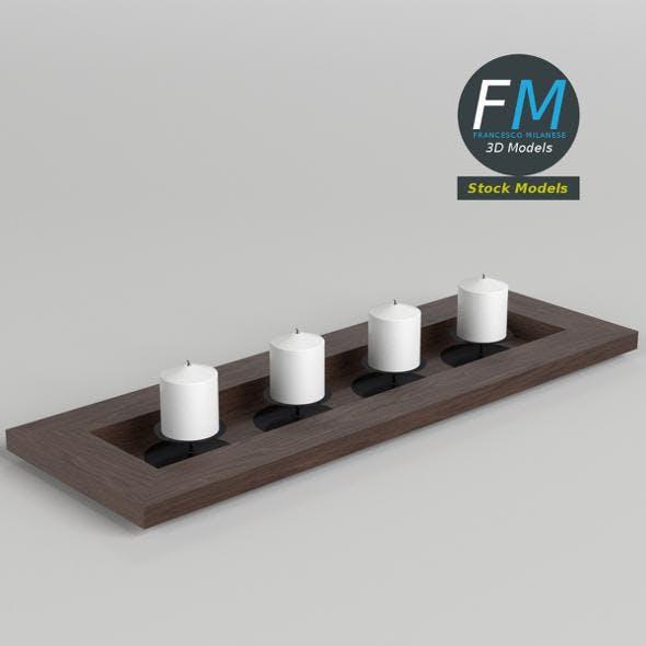Candles decoration - 3DOcean Item for Sale