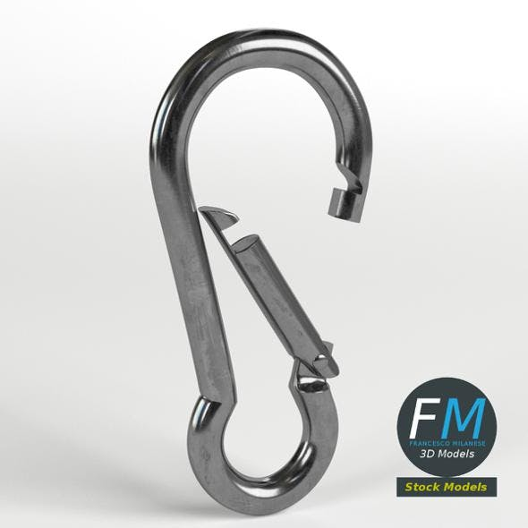 Carabiner cable clip - 3DOcean Item for Sale