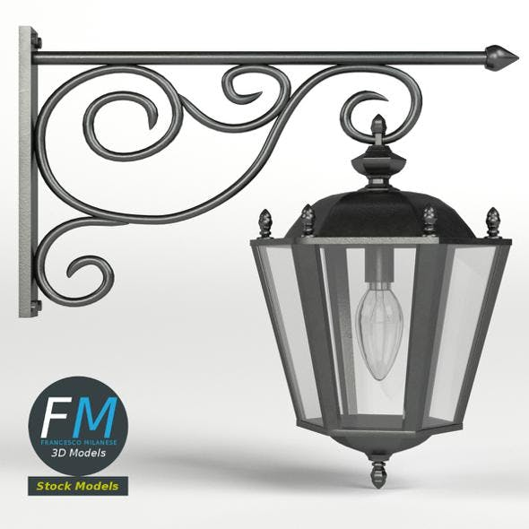 Cast iron wall lamp - 3DOcean Item for Sale