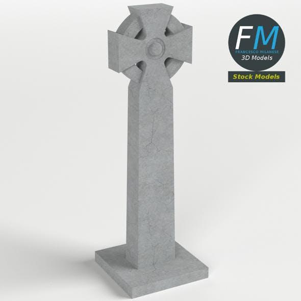 Celtic cross gravestone - 3DOcean Item for Sale