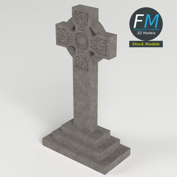 Celtic tombstone - 3DOcean Item for Sale